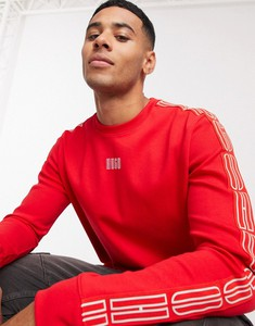 Czerwona bluza Hugo Boss z dresówki