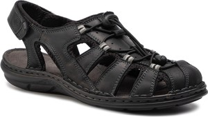 Czarne buty letnie męskie Lasocki For Men na rzepy