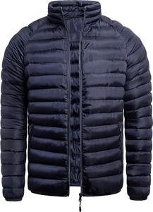 Granatowa kurtka Risardi krótka w stylu casual