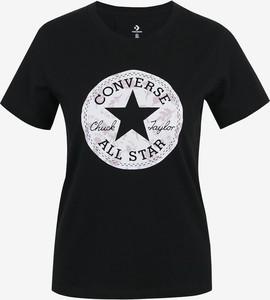 T-shirt Converse w młodzieżowym stylu z krótkim rękawem
