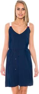 Granatowa sukienka Hilfiger Denim z bawełny mini