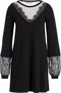Czarna sukienka Twinset w stylu casual z długim rękawem mini