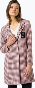 Różowy płaszcz Rich & Royal z wełny w stylu casual