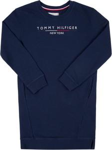 Granatowa sukienka dziewczęca Tommy Hilfiger