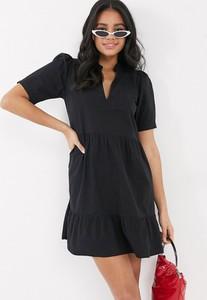 Sukienka Asos z dekoltem w kształcie litery v w stylu casual mini