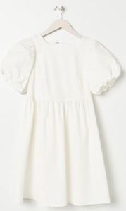 Sukienka Sinsay z długim rękawem mini z okrągłym dekoltem