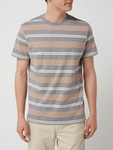Granatowy t-shirt Jack & Jones z krótkim rękawem