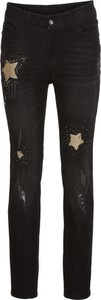 Czarne jeansy bonprix BODYFLIRT