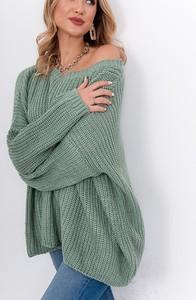 Zielony sweter ZOiO.pl z wełny w stylu casual