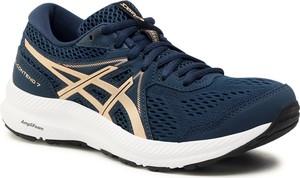 Granatowe buty sportowe ASICS sznurowane z płaską podeszwą