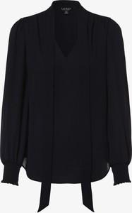 Granatowa bluzka Ralph Lauren z długim rękawem