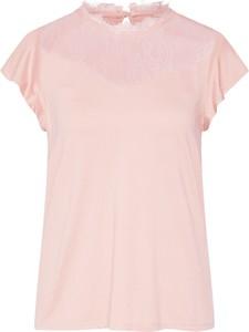Różowa bluzka Only z okrągłym dekoltem