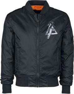 Czarna kurtka Linkin Park z nadrukiem w młodzieżowym stylu