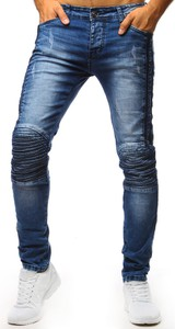 Niebieskie jeansy Dstreet z bawełny w stylu casual