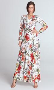 Sukienka NIFE maxi z długim rękawem w stylu boho