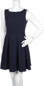 Sukienka LENITIF rozkloszowana mini z okrągłym dekoltem