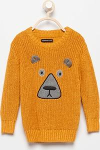 Pomarańczowy sweter Reserved z bawełny