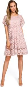 Sukienka Made Of Emotion rozkloszowana z krótkim rękawem mini