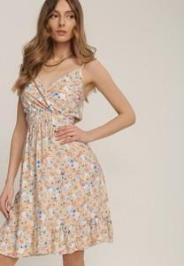 Niebieska sukienka Renee mini z dekoltem w kształcie litery v
