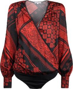 Bluzka Patrizia Pepe z dekoltem woda z tkaniny