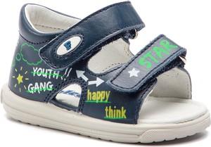 Niebieskie buty dziecięce letnie Naturino na rzepy