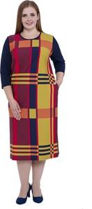 3f386d1b32 Sukienka modneduzerozmiary.pl z okrągłym dekoltem z długim rękawem midi