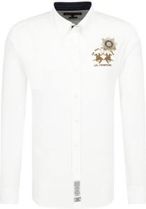 Koszula La Martina z kołnierzykiem button down z nadrukiem