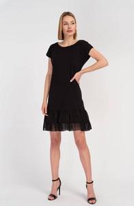 Sukienka Cotton Club z krótkim rękawem z bawełny z okrągłym dekoltem