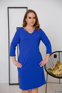 Sukienka tono.sklep.pl w stylu casual z długim rękawem z dekoltem w kształcie litery v