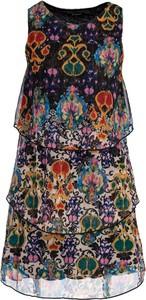 Sukienka Desigual bez rękawów w stylu casual z nadrukiem