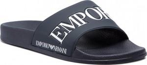 Granatowe buty letnie męskie Emporio Armani