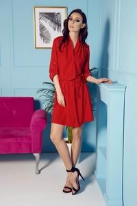 1b8e6409e4 stylizacje czerwona sukienka - stylowo i modnie z Allani