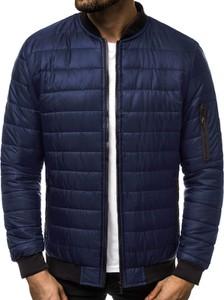 Niebieska kurtka J.STYLE w stylu casual