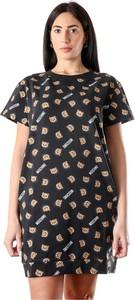 Sukienka Moschino mini z krótkim rękawem z okrągłym dekoltem