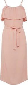 Różowa sukienka Ichi midi