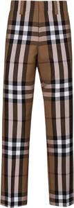 Spodnie Burberry z wełny