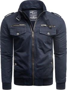 Niebieska kurtka Risardi w stylu casual