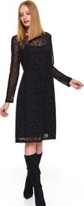 Sukienka Top Secret midi z okrągłym dekoltem