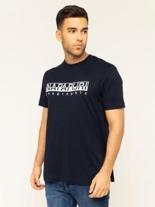 T-shirt Napapijri z plaru z krótkim rękawem