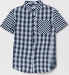 Niebieska koszula dziecięca Reserved w krateczkę