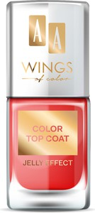Oceanic AA WINGS OF COLOR Color Top Coat 05 Red Jelly 11 ml