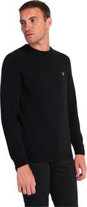 Czarny sweter Lyle & Scott w stylu casual