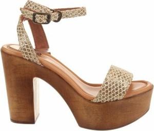 Sandały Uma z klamrami ze skóry