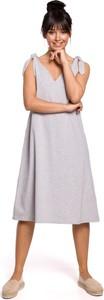 Sukienka Merg midi na ramiączkach