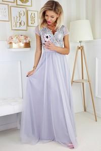 Sukienka TAGLESS rozkloszowana z dekoltem w kształcie litery v maxi