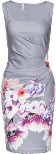 Sukienka bonprix bodyflirt boutique na spacer midi bez rękawów