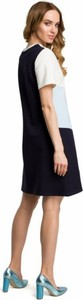 Sukienka MOE mini z bawełny z okrągłym dekoltem