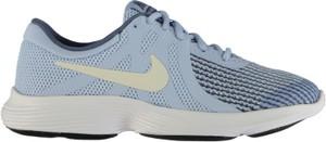 Błękitne buty sportowe dziecięce Nike z płaską podeszwą w sportowym stylu revolution