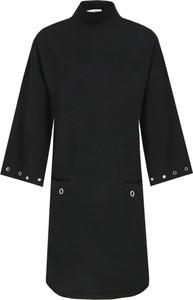 Czarna sukienka Silvian Heach mini w stylu casual z golfem