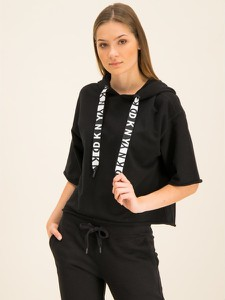 Czarna bluza Dkny Sport w młodzieżowym stylu krótka